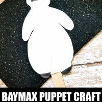 Big Hero 6 Baymax Puppet Craft
