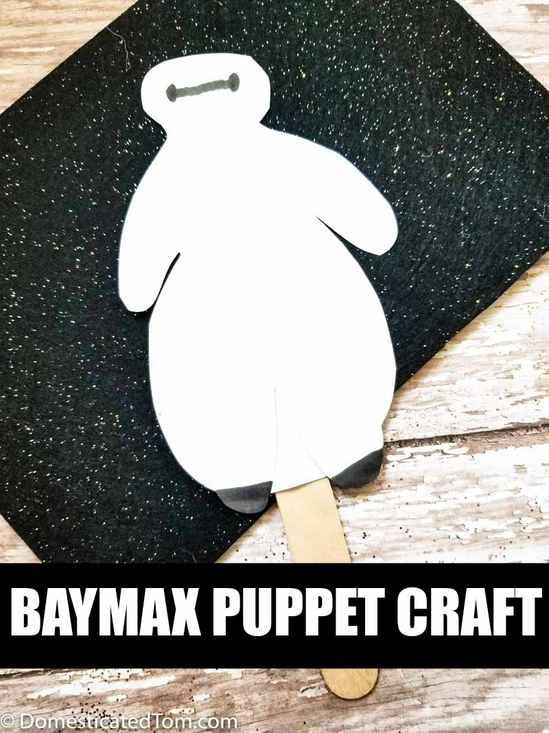 you are going to love this Big Hero 6 Baymax Puppet Craft! You can easily use this Big Her 6 movie craft along with the movie as a homeschool lesson on friendship.