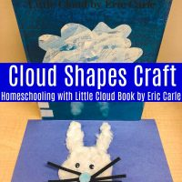 Little Cloud by Eric Carle Cloud Shapes Craft