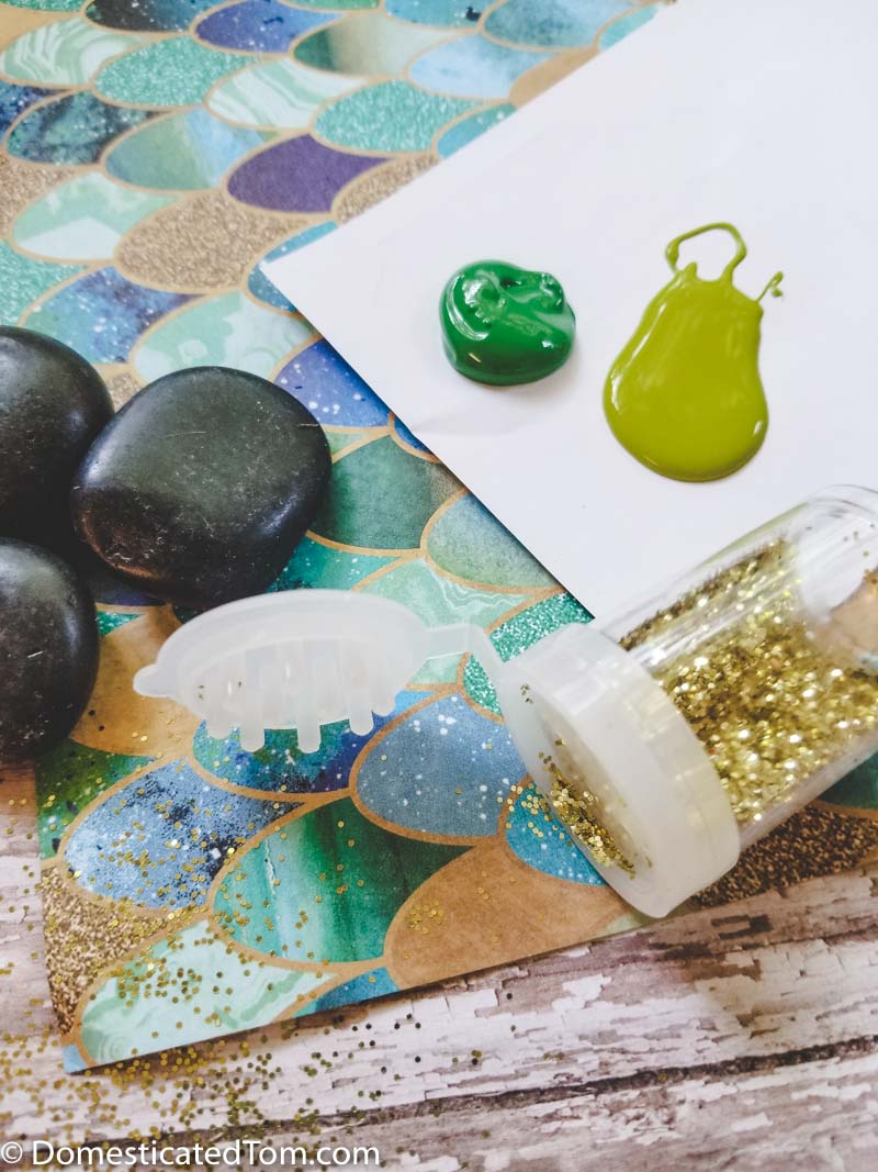 Moana Heart of Te Fiti Painted Rock Craft supplies