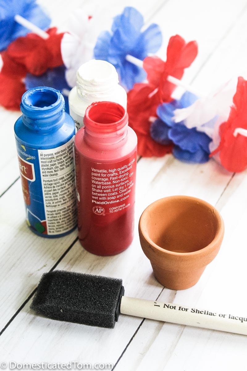 patriotic terra cotta pot craft supplies
