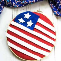 Patriotic Felt Flag Wall Hanging Craft