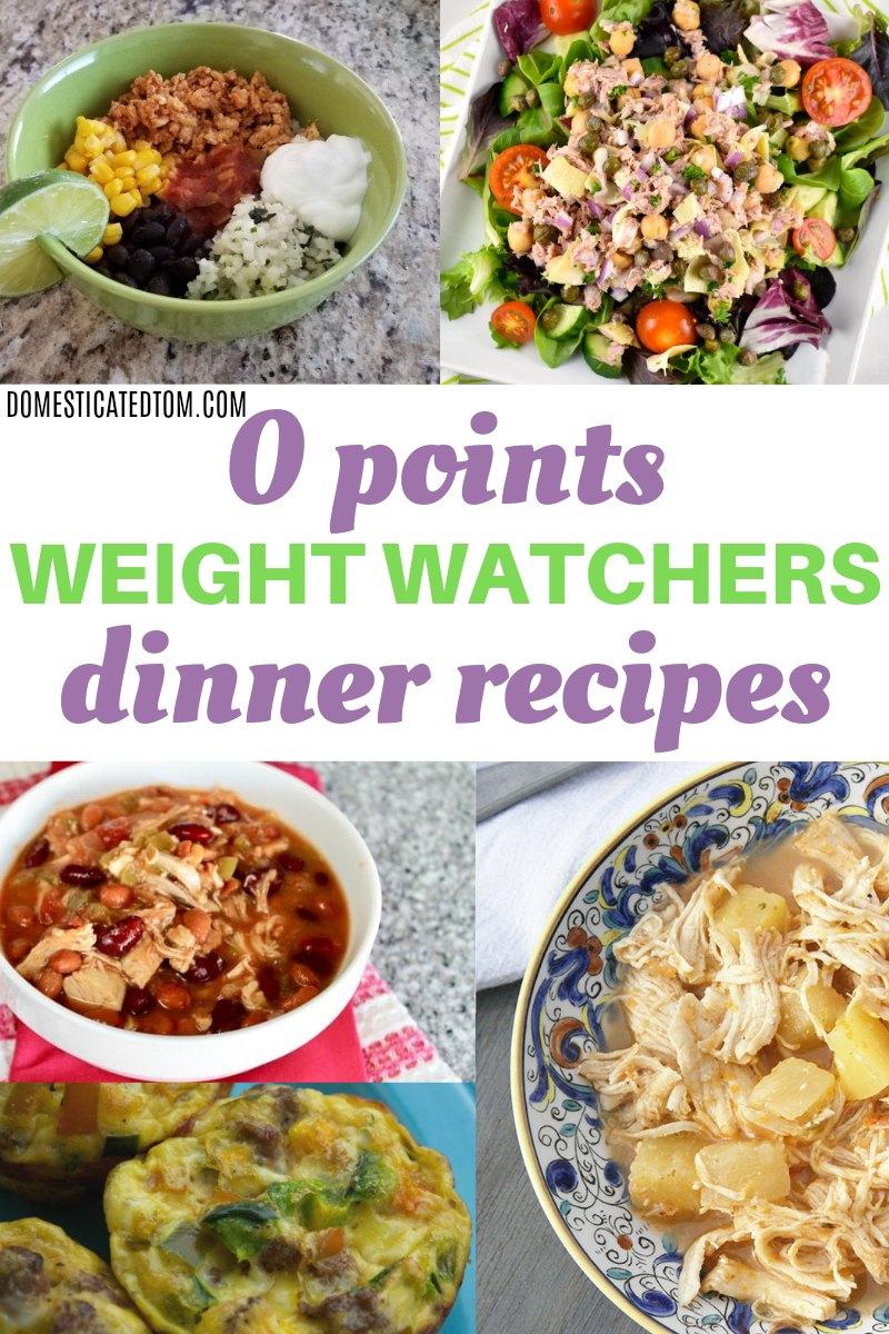 Zero Point Weight Watchers Dinner Recipes